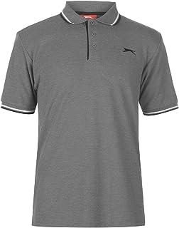Slazenger Mens Tipped Polo Shirt Short Sleeve