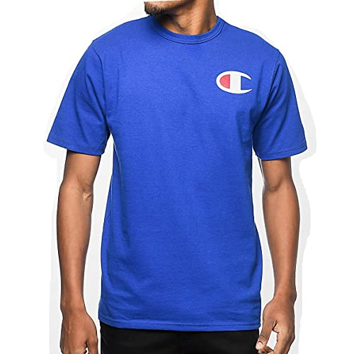 3d2c4d84 Champion Men's Big & Tall Graphic Logo T-Shirt (XLT, Royal)