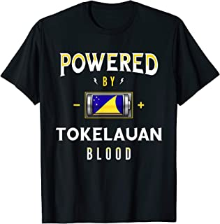 Powered by Tokelauan Blood Battery Tokelau Flag T-Shirt