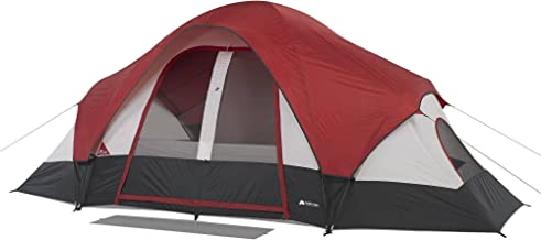 Family Camping Tent 8-Person 2 Rooms with Separate Doors. Waterproof Roomy Fits Up to 2 Queen Size Instant Dome 16'x8'. Great Choice for Camping Hiking Fishing Hunting Beach Outdoor Festival Picnic