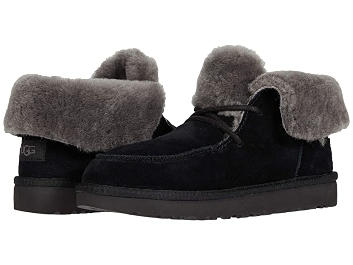 Vintage Boots- Winter Rain and Snow Boots History UGG Diara Black Womens Shoes $119.95 AT vintagedancer.com