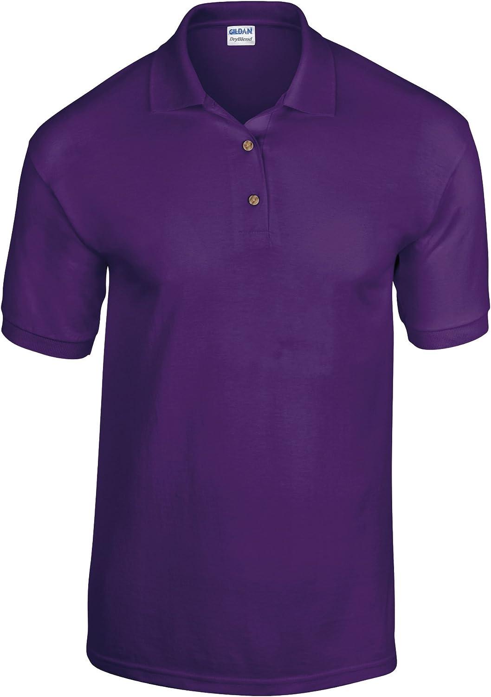 Gildan DryBlend Childrens Unisex Jersey Polo Shirt (Pack of 2) (L) (Purple)