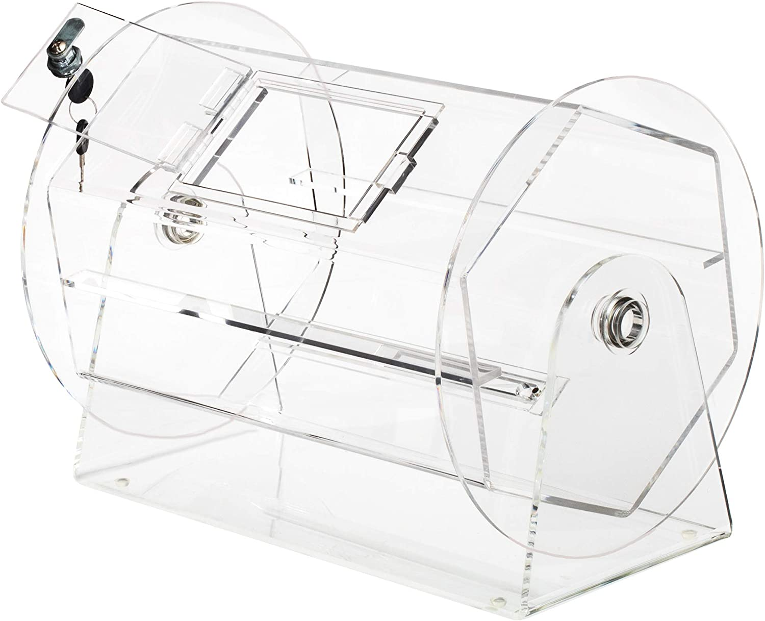 Medium Acrylic Ticket Drum Clear Excellence - Box Raffle overseas for Spinning Balls
