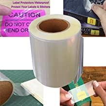 Label Protectors Label Shields Seals 1 1/4 X 2 1/8 Inches - Clear Book Repaire Tape Labels 500 Labels per Roll