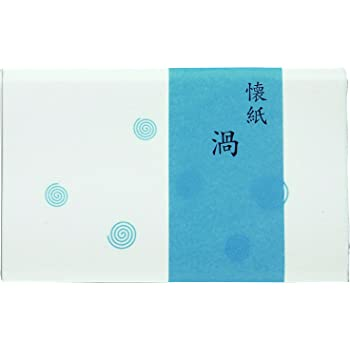 こころ懐紙本舗(Kokorokaishihompo) 懐紙 白 女性用サイズ:14.5x17.5cm(1枚) 渦