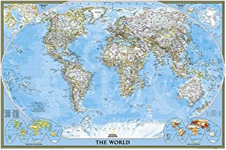 National Geographic: World Classic Wall Map - Laminated (Poster Size: 36 x 24 inches) (National Geographic Reference Map)