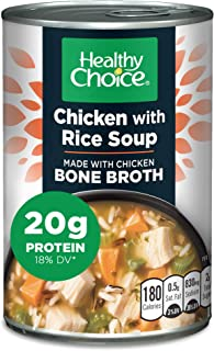 Healthy Choice Chicken With Rice Soup Made With Bone Broth, 15 Oz