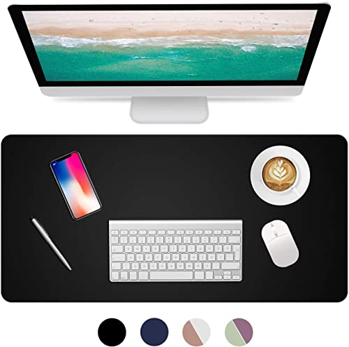Dual Sided Desk Pad, 2020 Upgrade Sewing PU Leather Office Desk Mat, Waterproof Desk Blotter Protector, Desk Writing ...