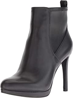 Nine West Women's QUILLIN Leather Ankle Boot, black, 10.5 M US