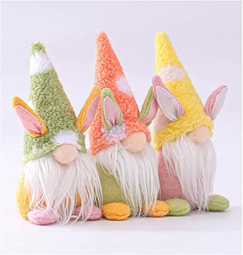 discount Easter Gnome Bunny Gnomes Spring Easter Gift Rabbit Tomte Nordic Swedish Nisse Scandinavian Tomte Dwarf Home new arrival Household Decor Spring Easter Collectible Figurine Set discount of 3 outlet sale