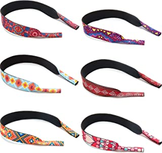 Frienda 6 Pieces Floating Eyewear Retainer Pattern Sunglasses Straps Neoprene Eyewear Holder Durable Soft Eyeglass Strap f...