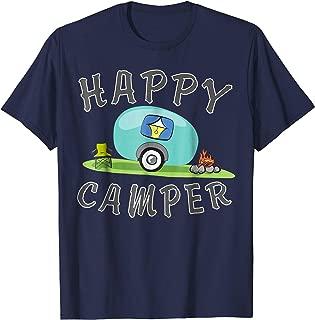 Camping T-shirt - Happy Camping Trailer Camper Tee