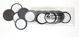 Z Palette Round Metal Stickers 26mm 30-Pack for Non-Magnetized Makeup Pans