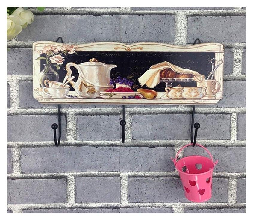 有限ドキドキパドルハンガーラック 錆びたスタイルの服のフック - 創造的なレトロ鍛造鉄の装飾ヨーロッパの庭ホーム服店のフック 家具/収納家具 (色 : B)