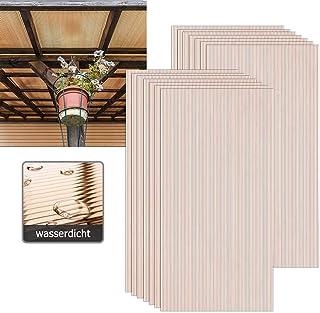 Aufun 14 x planchas alveolares de cámaras de policarbonato de 4 mm, 10,25 m², placas de invernadero, placas de repuesto para jardín, garajes, resistentes UV, marrón transparente, 60,5 x 121 cm
