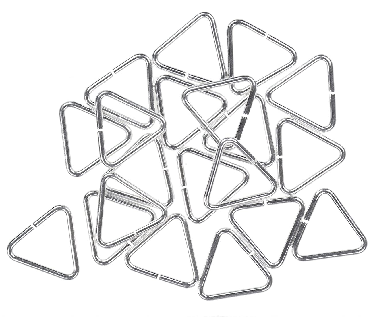 uGems 36 Sterling Silver Triangle Jump Rings 20ga 7mm