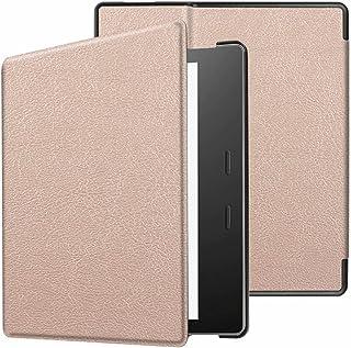 Capa de couro ultra leve para Kindle Oasis (apenas 9ª e 10ª geração, versão 2017 e 2019), cor lisa