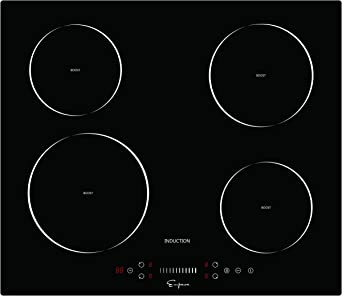 """Empava 24"""" Stove Power Boost Vitro Ceramic Black Electric Induction Cooktop with 4 Booster Burners Smooth Surface Tempered Glass, 24 Inch"""