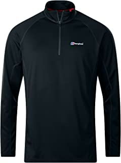 Berghaus Men's Tech Tee 2.0 Long Sleeve, Zip Neck Top