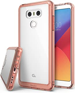 Ringke Funda LG G6 / G6 Plus [Fusion] Protector de TPU con Parte Posterior Transparente de PC [Protección contra caídas] Carcasa Protectora biselada - Cristal Oro Rosa Rose Gold Crystal