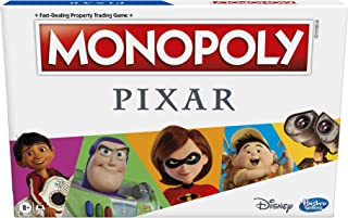 Monopoly: Pixar Edition Board Game for Kids 8 and Up, Buy Locations from Disney and Pixar's Toy Story, The Incredibles, U...