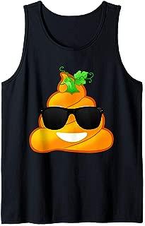 Halloween Poop Emoji Pumpkin Funny Costume Tank Top