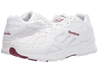 Reebok Lifestyle Aztrek 93 (White/Merlot/Reflective) Athletic Shoes