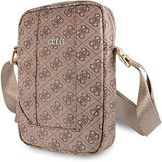 """Guess Unisex-Adult Bag GUTB104GB 10"""" Brown 4G Uptown case, Pink, x"""