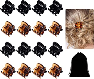 30 Pack Mini Hair Clips for Girls Women,Mini Hair Clips Plastic Hair Claws Pins Clamps for Girls and Women(Black and Brown)