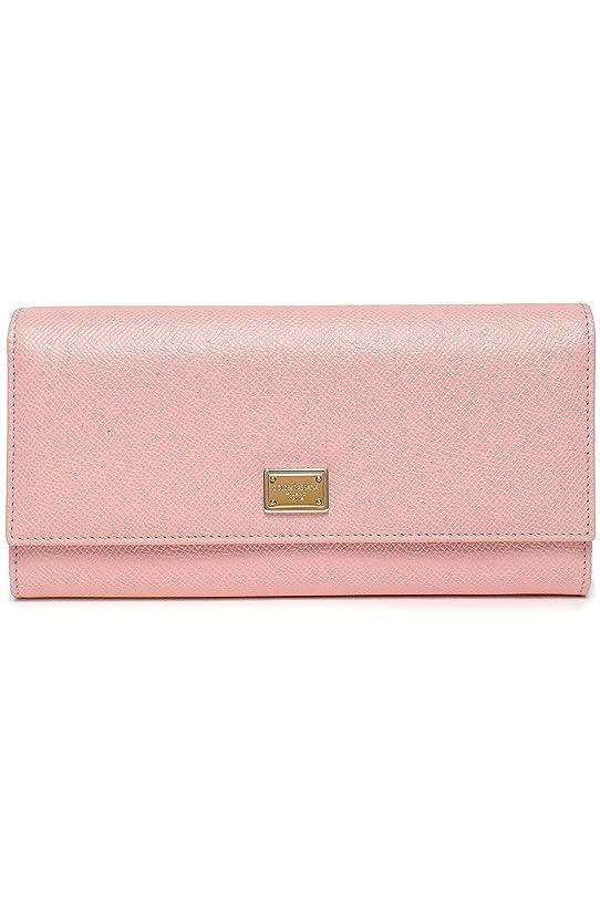 自分自身一次日光(ドルチェ&ガッバーナ) DOLCE&GABBANA Textured-leather continental wallet テクスチャードレザーコンチネンタルウォレット (並行輸入品)