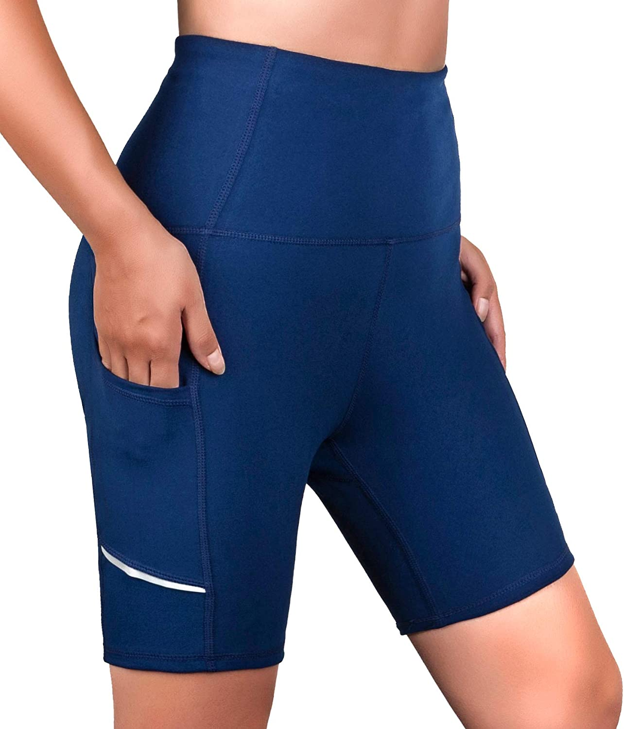 SERHOM Women's Yoga Shorts Workout Max 77% OFF with for Mesa Mall Women Pocket