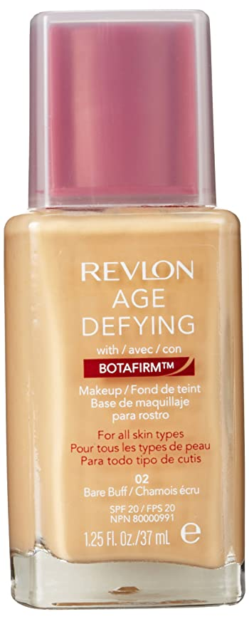 遺伝的ヒゲクジラ聴覚REVLON AGE DEFYING NORMAL/COMBINATION SKIN MAKEUP WITH BOTAFIRM #02 BARE BUFF
