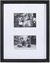 إطارات لورانس 4 × 6 إطار صورة مزدوج مطفي أسود 11 × 14