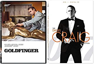 007 Sean Connery Goldfinger James Bond DVD + Daniel Craig Collection Skyfall / Quantum of Solace / Casino Royale 4 feature Films