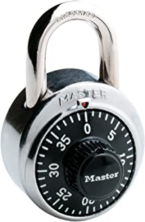Master Lock 【正規輸入品】 ダイヤル式南京錠 ブラック 1500JAD