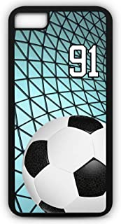 iPhone 8 Phone Case Soccer SC027Z by TYD Designs in Black Rubber Choose Your Own Or Player Jersey Number 91