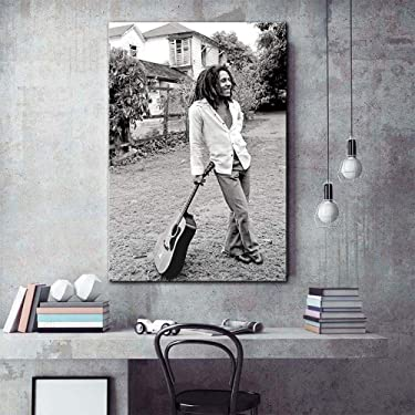 Modern Painting bob Marley Black and White Pictures Canvas Art Print Stretched -40x60cm no Frame