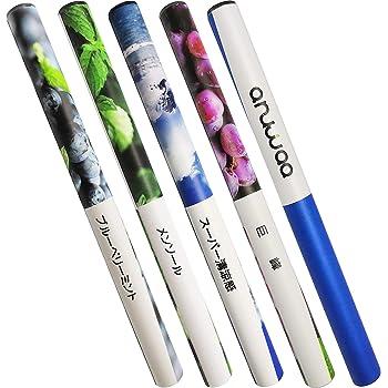 電子タバコ 使い捨て 5種類フレーバー 400-450回吸引可能 禁煙補助に最適 爆煙 ANUWAA (5フレーバー)