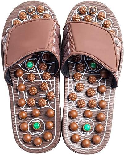 Xiao Jian- Trois générations de Nouvelles Chaussures de Massage, Pied, Chaussures de santé en Jade, Chaussons de Massage, Chaussures de pédicure pour Hommes et Femmes Pantoufles (Taille   42-46)