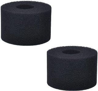 Poweka Esponja de Filtro de Piscina para In-Tex Tipo S1, Filtro de Cartuchos de Esponja Reutilizable y Lavable para Piscina Jacuzzi SPA Hidromasaje (2 Piezas Negro)