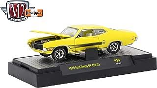 M2 Machines 1970 Ford Torino GT 429CJ (Bright Yellow) - Detroit Muscle Release 39 2017 Castline Premium Edition 1:64 Scale Die-Cast Vehicle (R39 17-53)