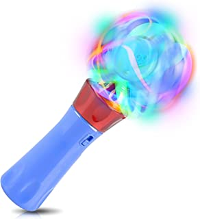 ArtCreativity Light Up Orbiter Spinning Wand, 7 Inch LED Spin Toy with Batteries Included, Great Gift Idea for Boys, Girls, Toddlers, Fun Birthday Party Favor, Carnival Prize - Colors May Vary