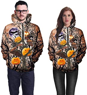 Riou Hoodies Long Sleeve Jumper for Womens , Cotton Colorful Printing Ladies Tops,Woman Fashion Casual Loose O-Neck Winter Girl Ladies Overcoat Outercoat Sweatshirts