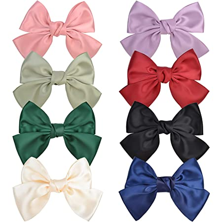 Details about  /Lattice Big Bow Banana Clip Hairpin Hair Clip Accessories NEW Fashion Girl K5R7