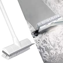 """BOOMJOY Floor Scrub Brush with Long Handle 50"""", Adjustable Stainless Metal Handle, Scrubber with Stiff Bristles for Cleani..."""