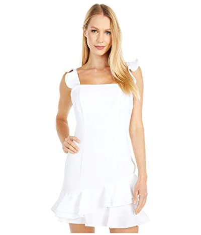 BCBGeneration Cocktail Ruffle Fitted Mini Dress GEF6283280 (Optic White) Women