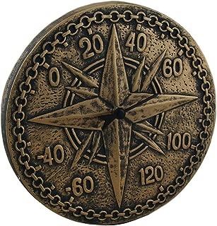 Zeckos Bronze Finish Terracotta Compass Rose Wall Thermometer
