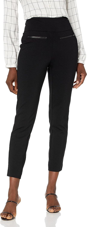 jules & leopold Women's Plus Size Slim Leg Techno Crepe Pant