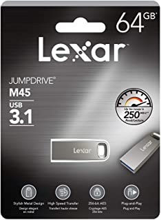 Lexar Jumpdrive M45 64GB USB 3.1 Metal Flash Drive up to 250MB/s