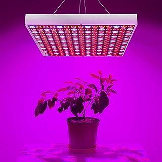 Exmate 45W LED Grow Light برای گیاهان داخلی لامپ در حال رشد 225 LED چراغ روشنایی گیاهان قرمز آبی لامپ پانل مخصوص چادر گلخانه گیاهان شفاف داخلی گیاهان نهال گل های گیاهان گل شکوفه گیاهی Bloom Hydroponic Garden Sliver